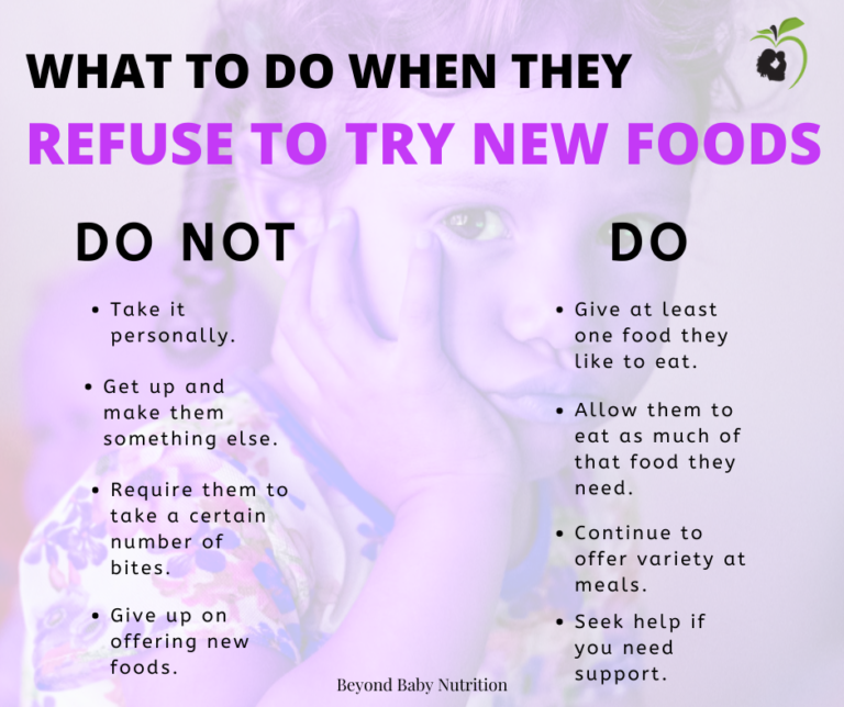 What to do when your little one refuses to try new food