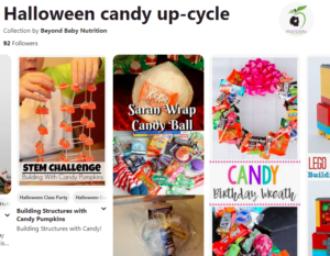 Pinterest page to up-cycle candy