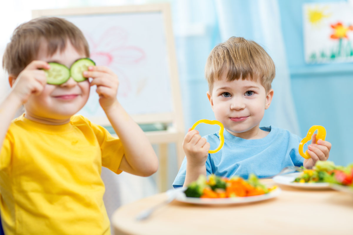 picky eating has ended for two toddlers as they enjoy meal time