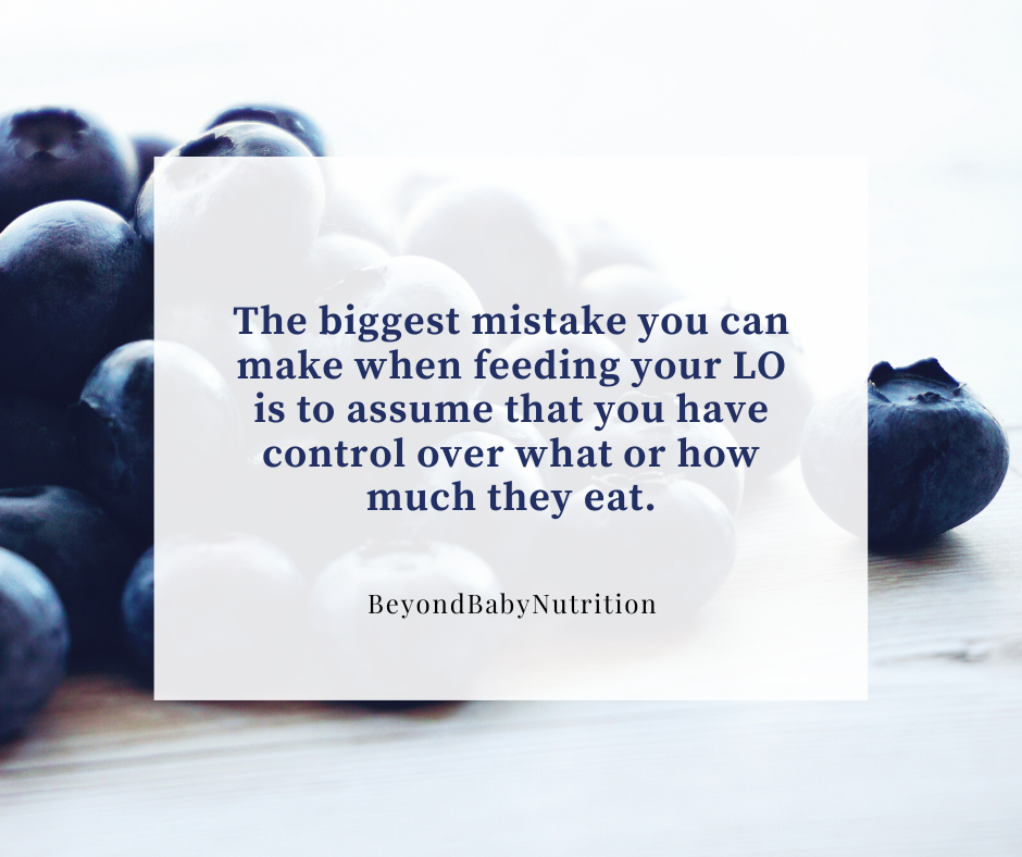 Quote from the author: The biggest mistake you can make when feeding your little one is to assume that you have control over what or how much they eat.