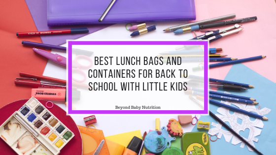 Best lunch bags and containers for back to school with little kids