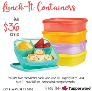 Tupperware lunch it containers