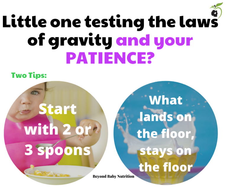 Two tips for when your little one keeps testing gravity.