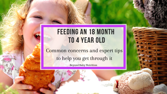 Feeding an 18 month to 4 year old. Common concerns and tips to make meals easier